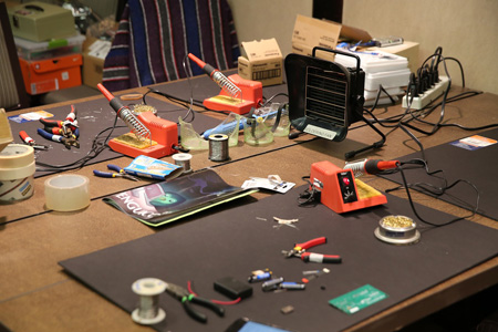 soldering station & tools for electronic assembly